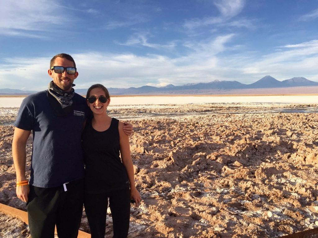 Nick and I touring San Pedro de Atacama