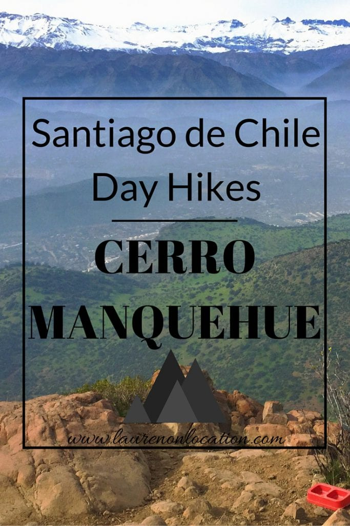 Everything you need to know to hike Cerro Manquehue in Santiago, Chile. It's about a 3 hour round trip hike with one awesome view of Santiago below!