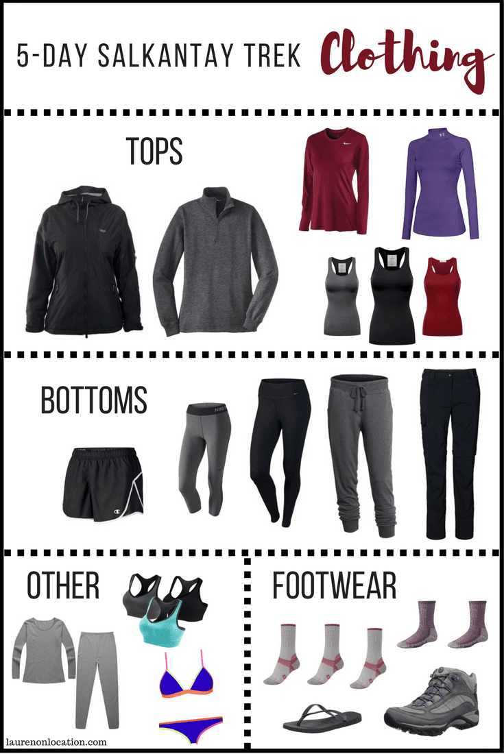 Clothing for the 5 Day Salkantay Trek