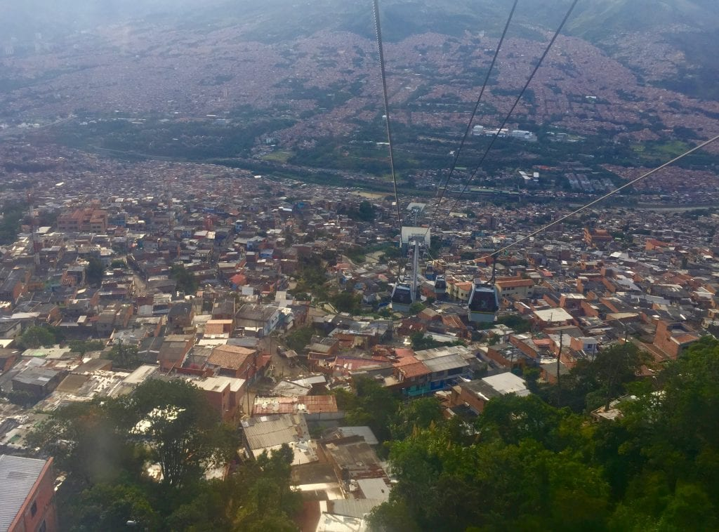 When anyone asks me what to do in Medellín, I always suggest taking a ride on the city's cable car.