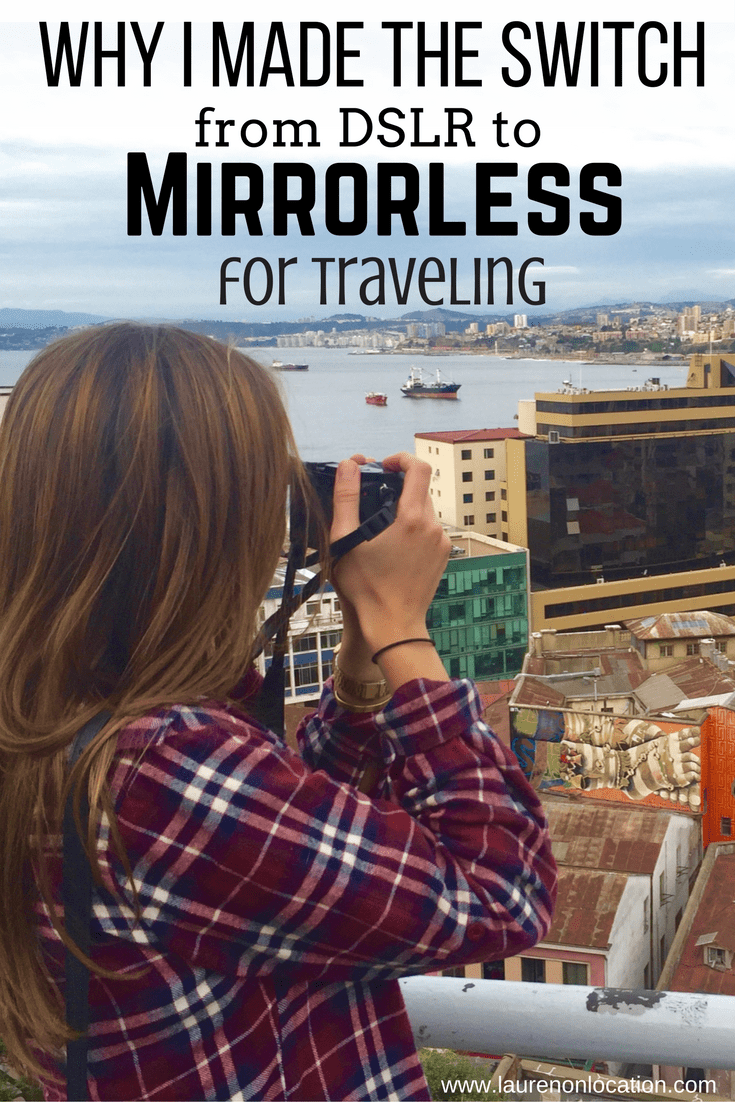 The switch from a DSLR camera to a mirrorless system. Why mirrorless cameras are a great option for travelers!