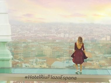One of my favorite Madrid Instagram Spots is the hotel terrace of Hotel Ruiz in Plaza de España