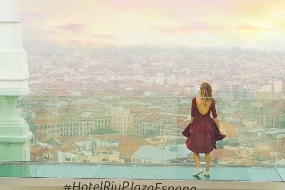 One of my favorite Madrid Instagram Spots is the hotel terrace of Hotel Ruiz in Plaza de España