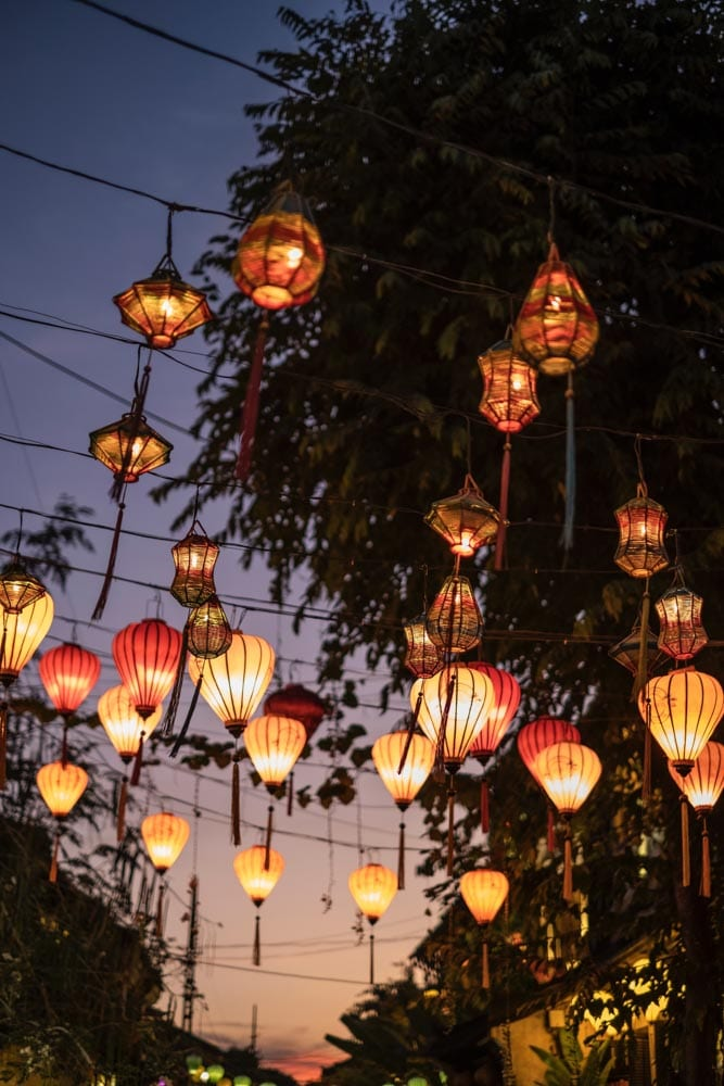 Hoi An's night market where you can buy lanterns.