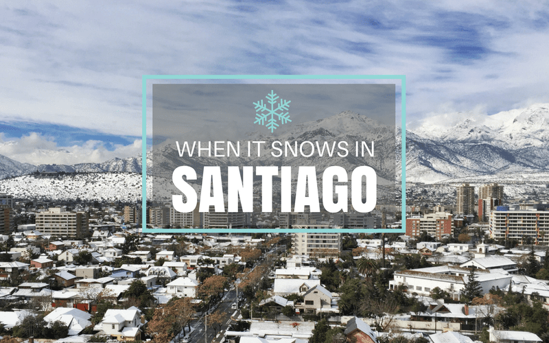 Snow in Santiago