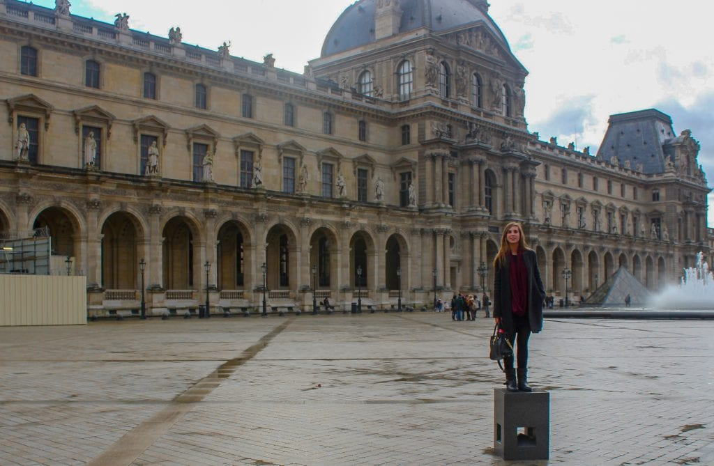 Lauren at the Louvre in Paris