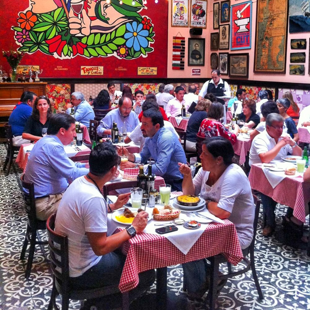 Bar Liguria is one of the best restaurants in Santiago to try the local cuisine.