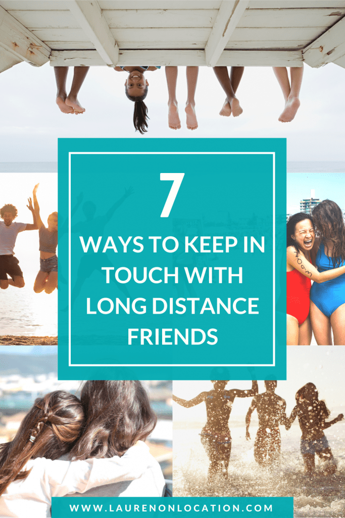 When living or traveling abroad, it's not always easy to stay in touch with your friends back home. Long-distance friendships can be tricky. Luckily, in my years of living overseas, I've figured out some things to do when I miss my best friends, and we've been able to stay in touch. Actually, I'm closer than ever with a lot of my friends! Here are 7 ways to keep in touch with long distance friends! #expatlife #expat #expatliving #longdistancefriendships