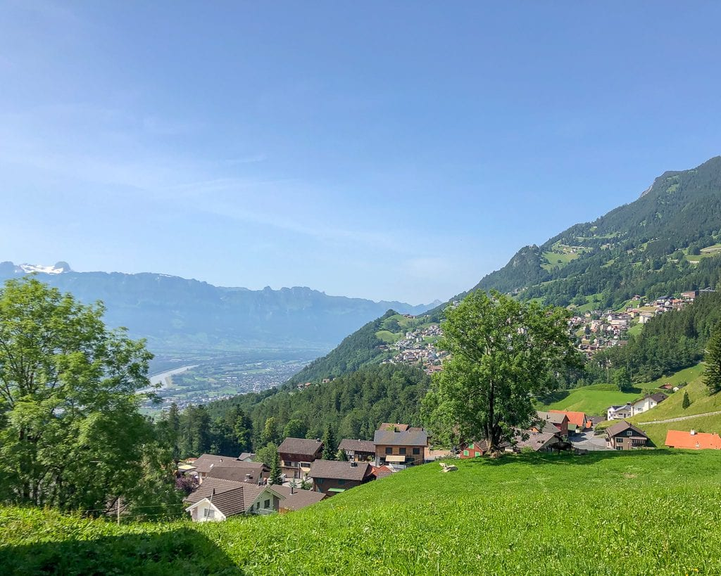 Panoramic view of Liechtenstein from Triesenberg