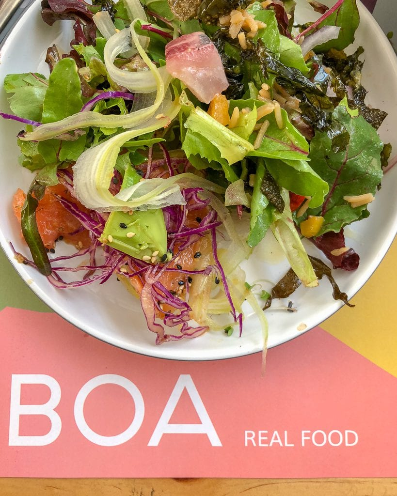 BOA Restorán in Santiago, Chile- one of my favorite places for a healthy and organic meal.