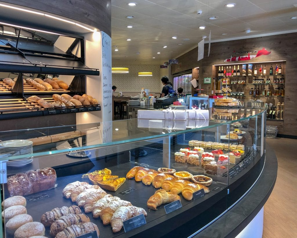Grab a quick bite to eat at the Balu French Bakery in Vaduz.