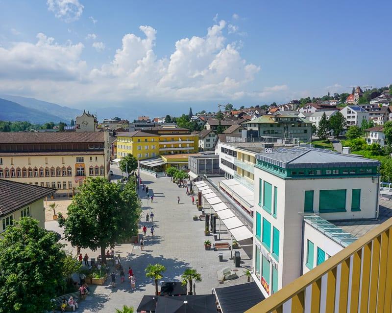 View from the Residence Hotel in Liechtenstein