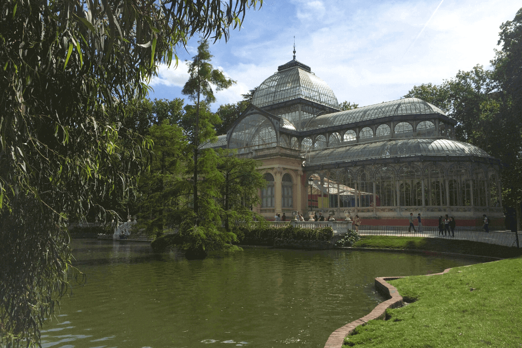 Walk through Parque Retiro in Madrid.