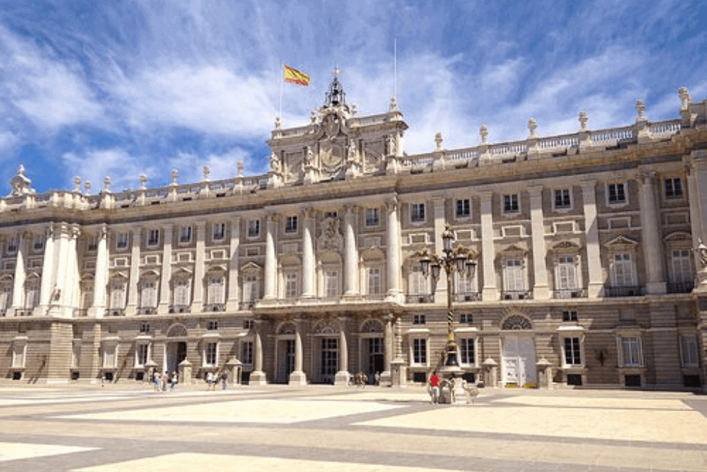 The Royal Palace in Madrid, Spain.