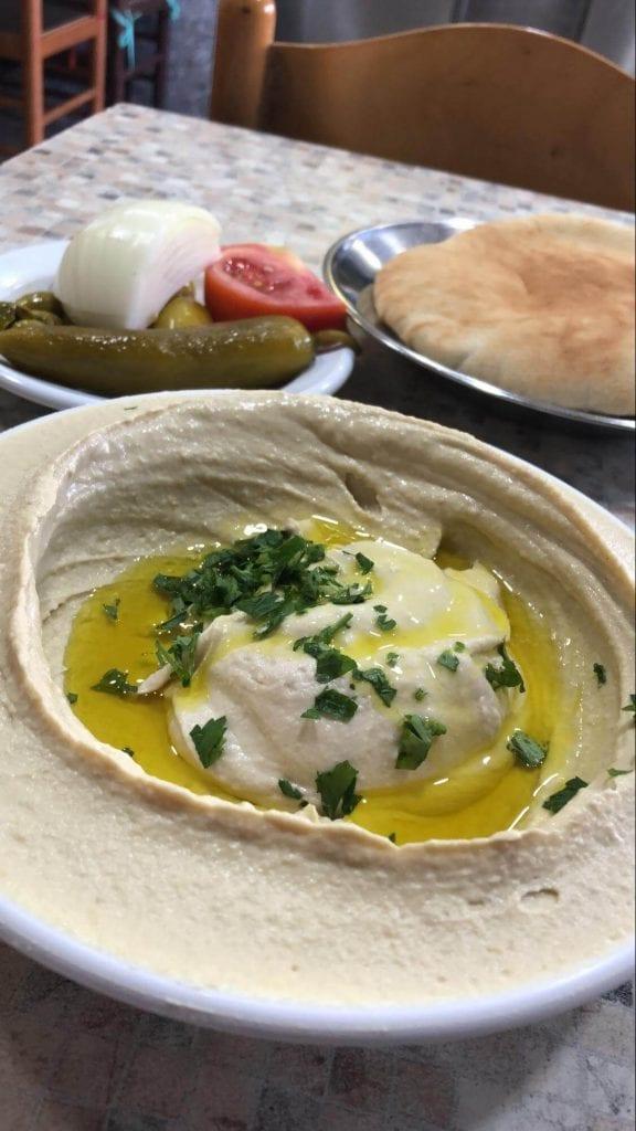 Hummus in Haifa, Israel