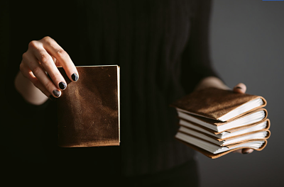 Leather pocket travel journal by Forest Nine