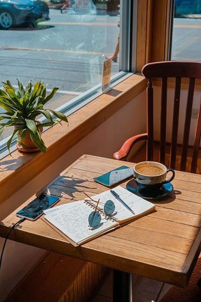 Journaling from a café